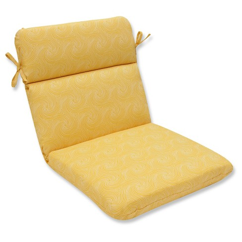 Pillow Perfect Nabil Sunflower Outdoor One Piece Seat And Back Cushion - Yellow - image 1 of 1