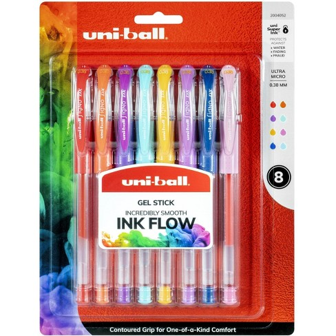 uni-ball Gel Stick Pen, 0.38 mm, Assorted Colors, set of 8 - image 1 of 1