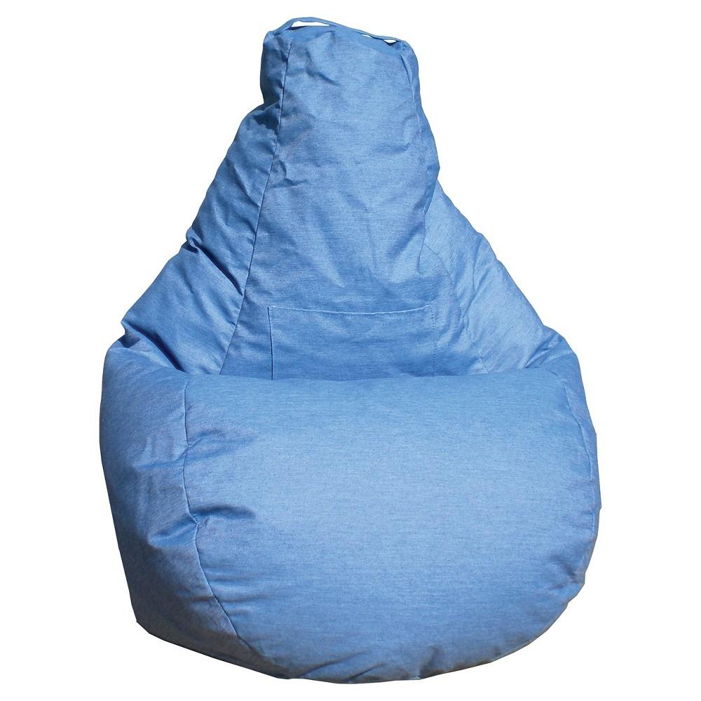 Image of Gold Medal Bean Bag Chair Denim Look - Blue