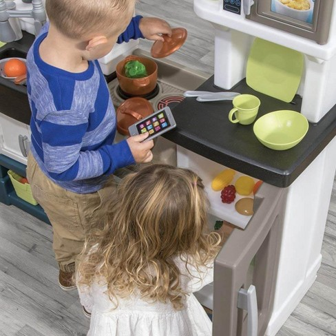 Step2 Plastic Pretend Play Modern Metro Kitchen With Play Food And Accessories Target
