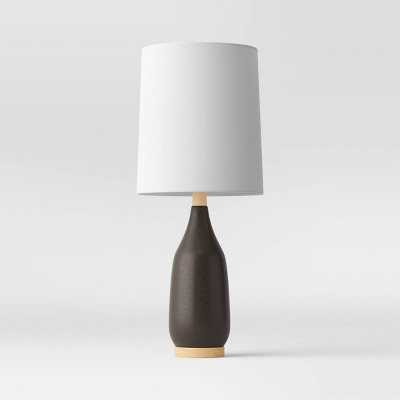 Large Assembled Ceramic Dark Finish Table Lamp (Includes LED Light Bulb)Black - Project 62™