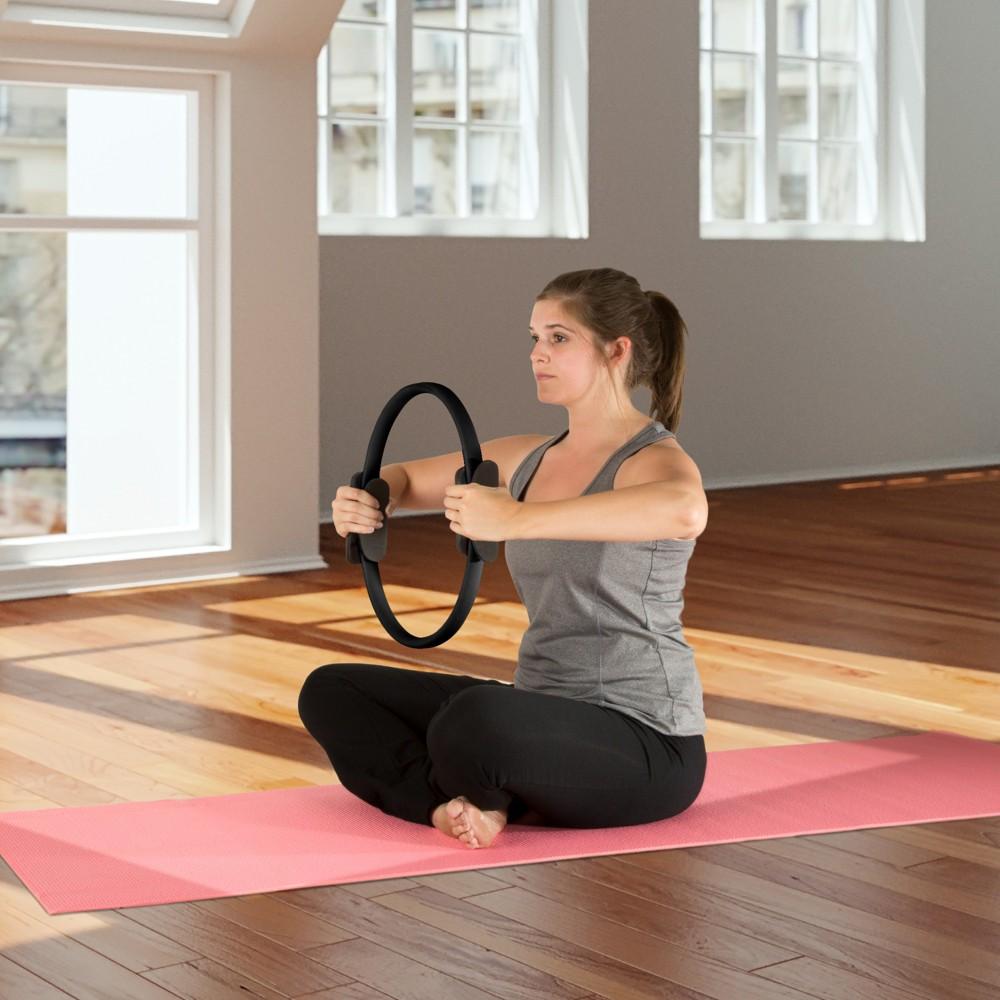 Wakeman Fitness Pilates Dual Grip Toning Ring - Black (15)