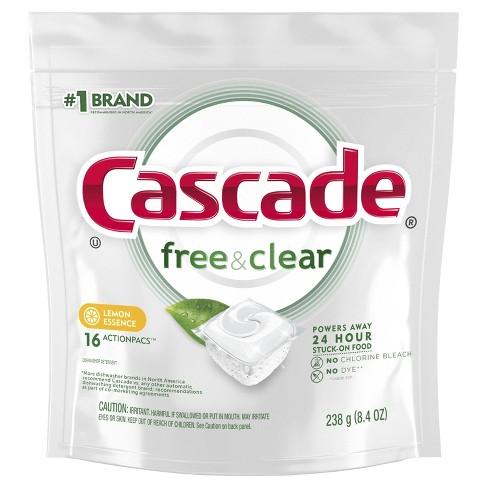 Cascade Pure Essentials ActionPacs Lemon Dishwasher Detergent - image 1 of 3