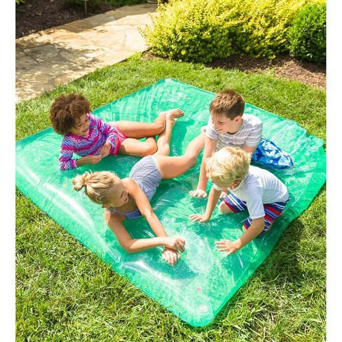 Large Rectangle AquaPod with Pretend Fish for Kids Backyard Water Play - HearthSong - image 1 of 2