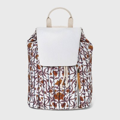 Floral Print Magnetic Closure Soft Flap Backpack - Universal Thread™