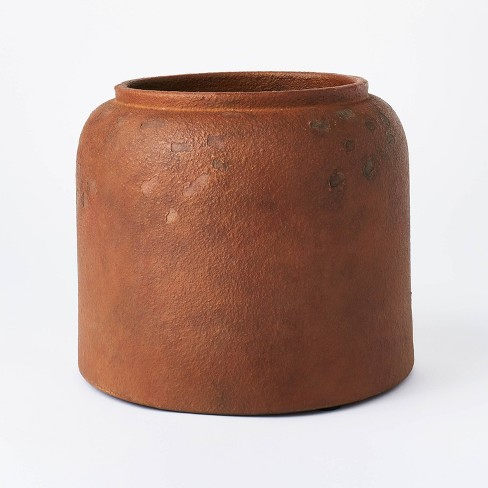 """8"""" x 9.5"""" Rustic Vase Brown - Threshold™ designed with Studio McGee - image 1 of 4"""