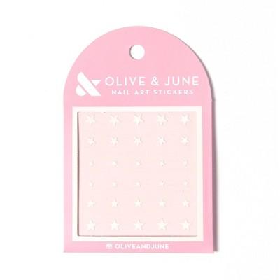 Olive & June Nail Art Stickers - White Stars