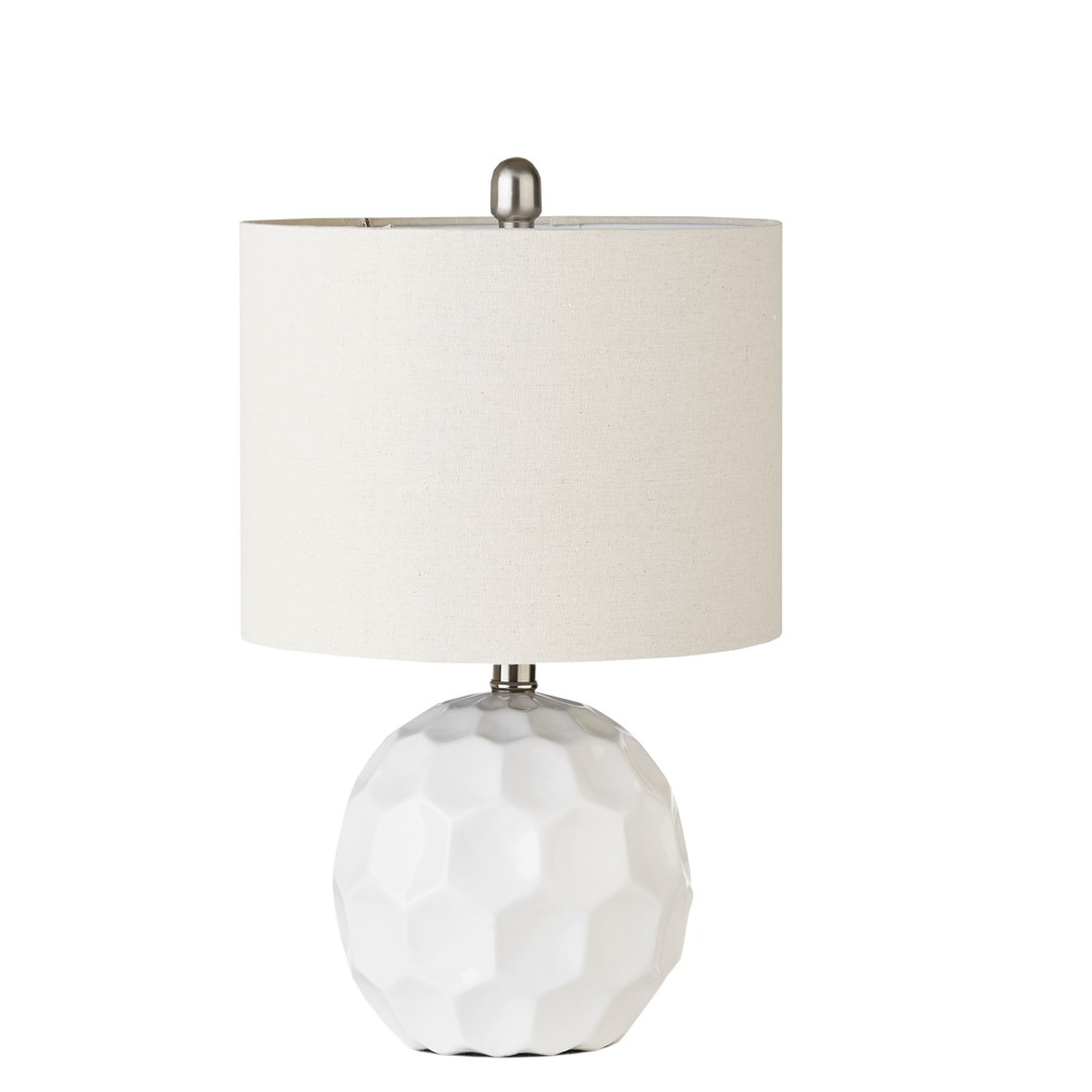 """Image of """"12"""""""" x 12"""""""" Frill Table Lamp White (Lamp Only)"""""""