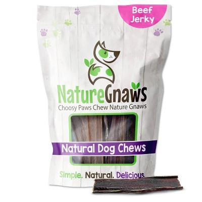 "Nature Gnaws Jerky Chews 4-5"" Beef Dog Treats- 20ct"