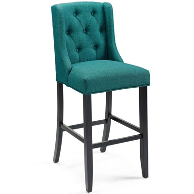 Baronet Tufted Button Upholstered Fabric Barstool - Modway