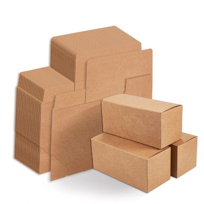 """20-Pack Kraft Gift Boxes Rectangle Wrapping Brown Paper Box with Lids 9 x 4 x 4"""""""