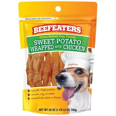 Beefeaters Sweet Potato Wrapped with Chicken Chewy Dog Treats - 28oz