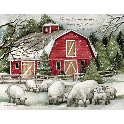 18ct The Lord Is My Shepherd Holiday Boxed Cards