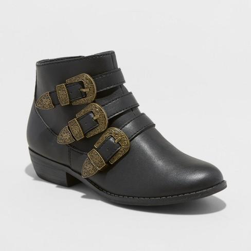c620c13873f Girls  Blanche Buckle Fashion Boots - Art Class™ Black   Target