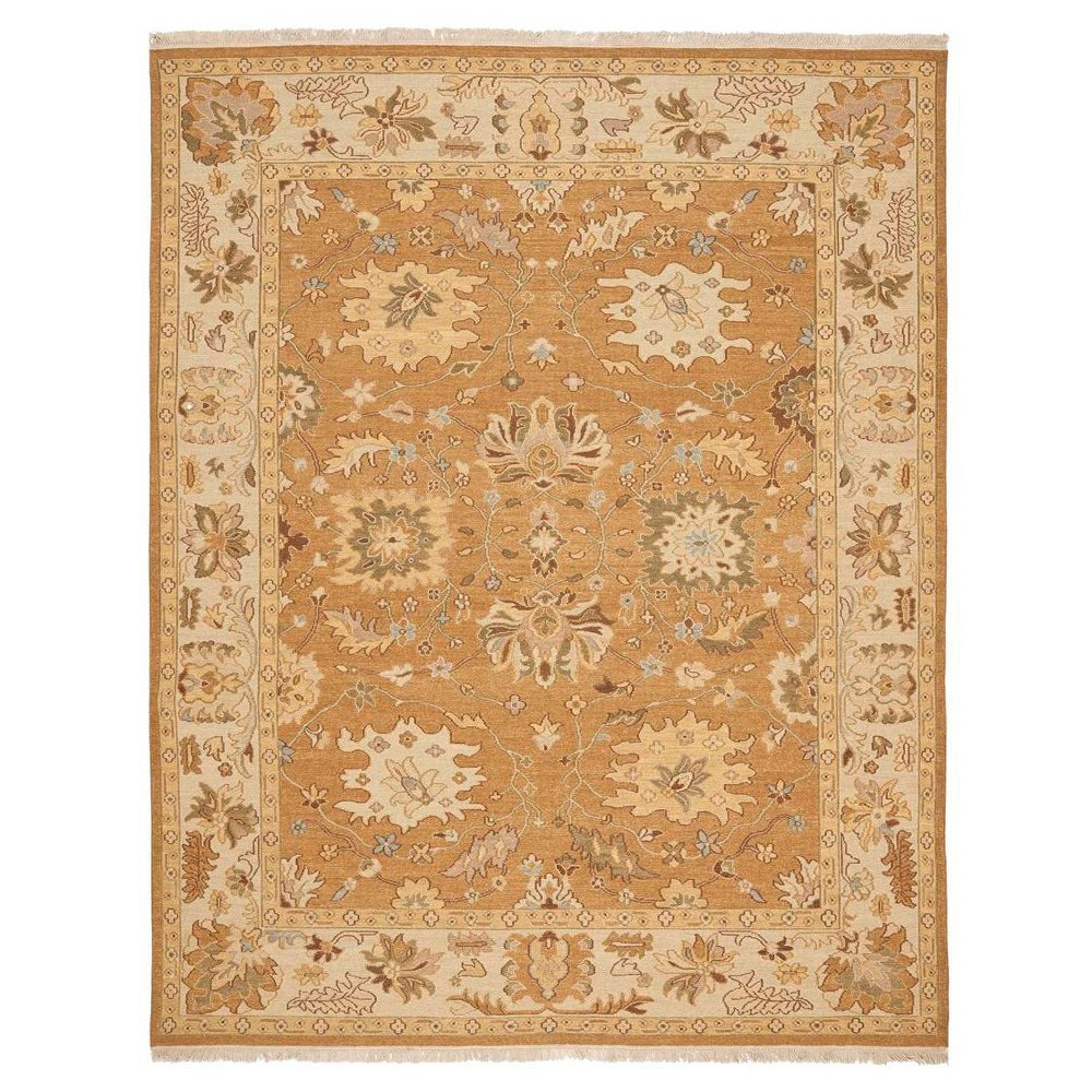 Copper/Beige (Brown/Beige) Botanical Flatweave Woven Area Rug - (6'X9') - Safavieh