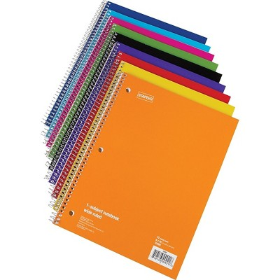 """Staples 1 Subject Notebook 8"""" x 10-1/2"""" Wide Ruled 48 pack 27497CT"""