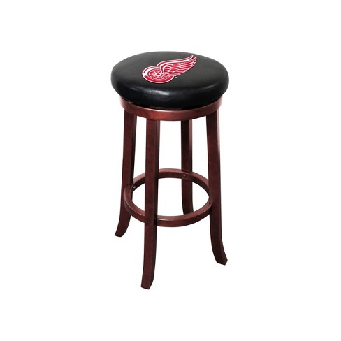 Awe Inspiring Nhl Detroit Red Wings Wooden Bar Stool Evergreenethics Interior Chair Design Evergreenethicsorg