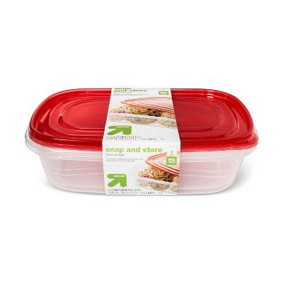 Snap And Store Large Rectangle Food Storage Container - 2ct/128 fl oz - Up&Up™