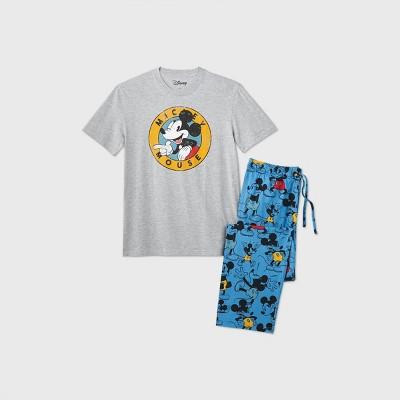 Men's Disney Mickey Mouse Pajama Set - Heather Gray