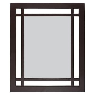 Neal Wall Mirror Dark Espresso - Elegant Home Fashions