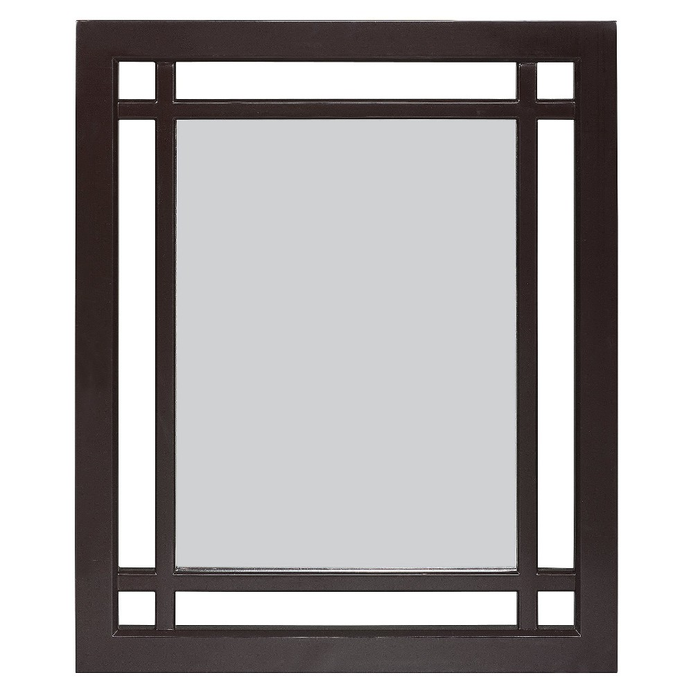 Image of Neal Wall Mirror Dark Espresso - Elegant Home Fashions