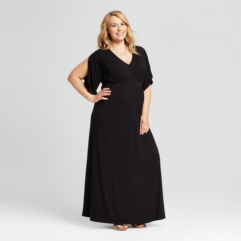 Maternity Plus Size Kimono Sleeve Dress - Isabel Maternity by Ingrid & Isabel™ - image 1 of 2