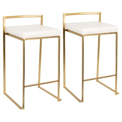 """Set of 2 27"""" Fuji Contemporary Counter Height Barstool - Lumisource"""