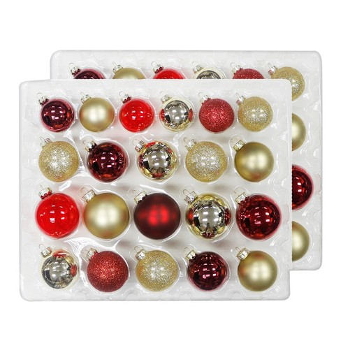 42ct christmas ornament set redgold wondershop target