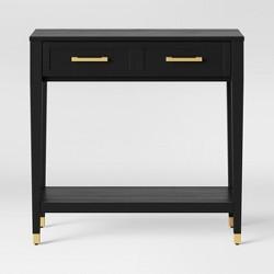 Surprising Sun Pine Samuel Traditional Glass Top Sofa Table Dark Beutiful Home Inspiration Truamahrainfo