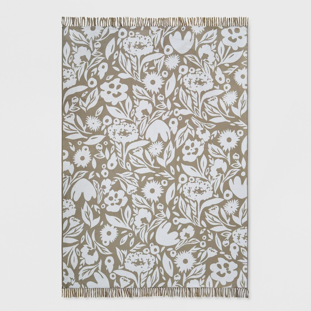 7' x 10' Garden Party Outdoor Rug Neutral - Opalhouse