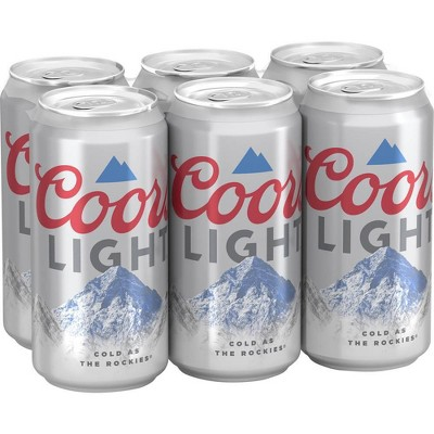 Coors Light Beer - 6pk/12 fl oz Cans