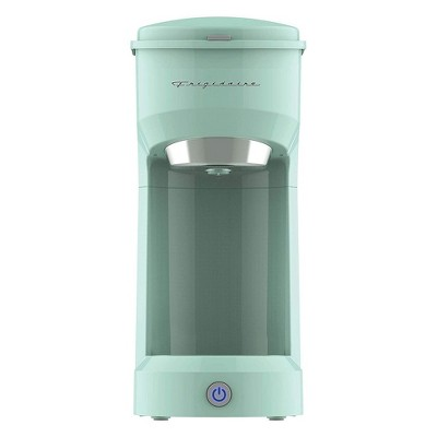 Frigidaire ECMK088 Retro 1 Cup Single Serve Coffee Maker with Brew Basket and Single Touch Control for Home Kitchen Countertop Brewing, Mint Green