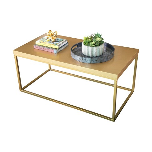 Maple Wood Coffee Table.Maplewood Antiqued Wood Coffee Table Gold Abbyson Living