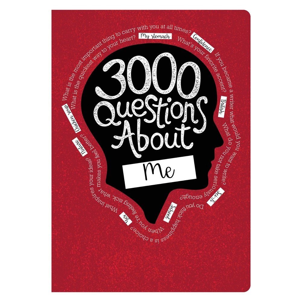 Image of 3000 Questions About Me Activity Journal - Piccadilly, Red