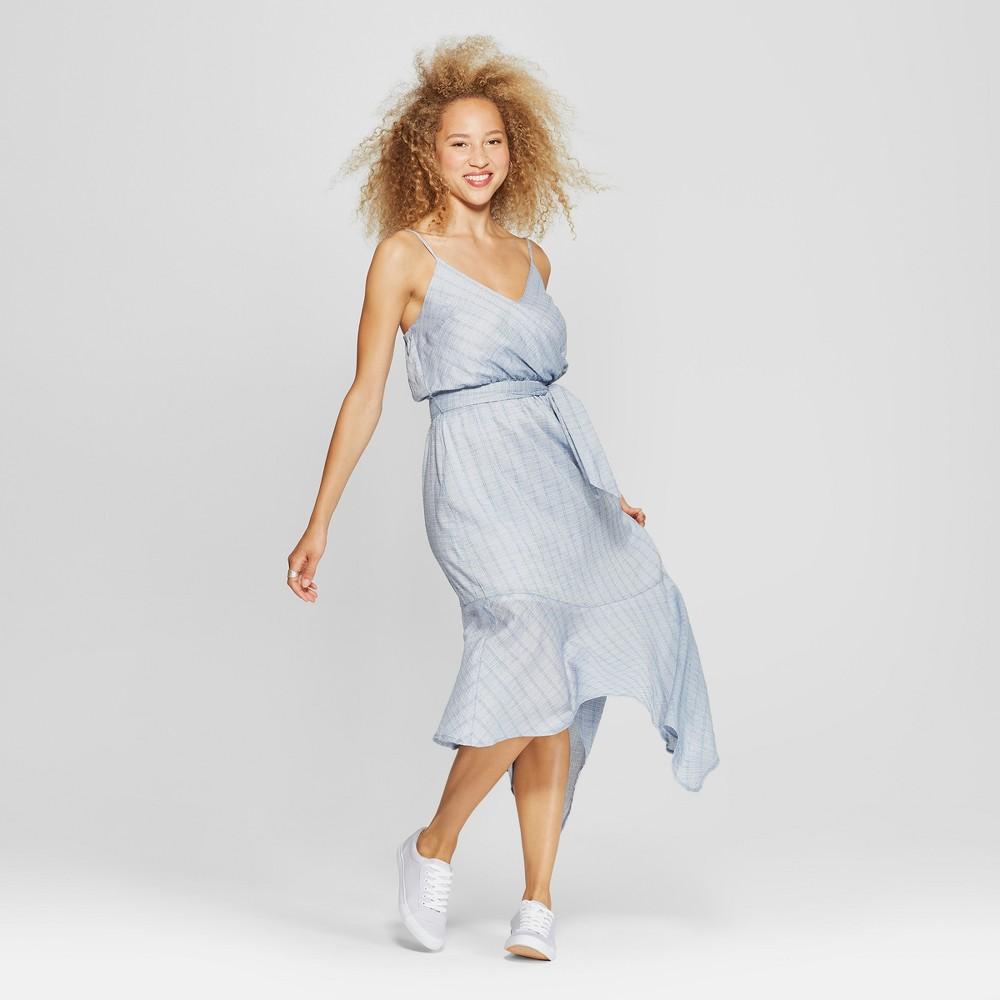 Women's Asymmetrical Tie Waist Dress - Universal Thread Blue XL