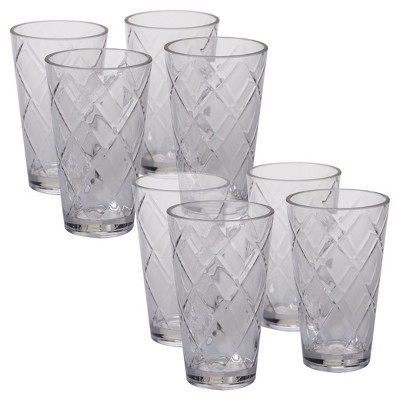 Certified International® Diamond Acrylic Tumblers 20oz - Set of 8