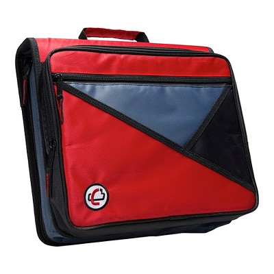 Case-it Universal Laptop Zipper Binder, O-Ring, 2 Inches, Red