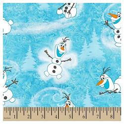 Frozen Olaf Winter Toss Fabric