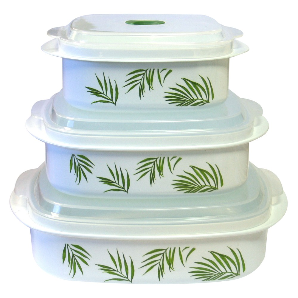 Image of Reston Lloyd Corelle Microwave Set - Bamboo Leaf