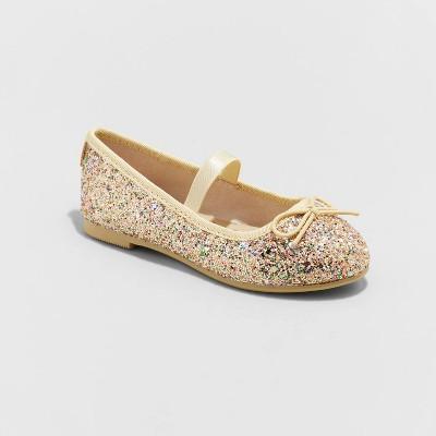 Toddler Girls' Lily Glitter Ballet Flats - Cat & Jack™