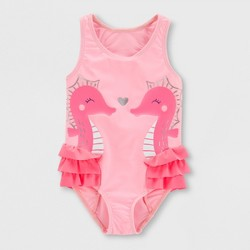 51ceb50eec Toddler Girls' Seahorse One Piece Swimsuit - Just One You® made by carter's  Pink