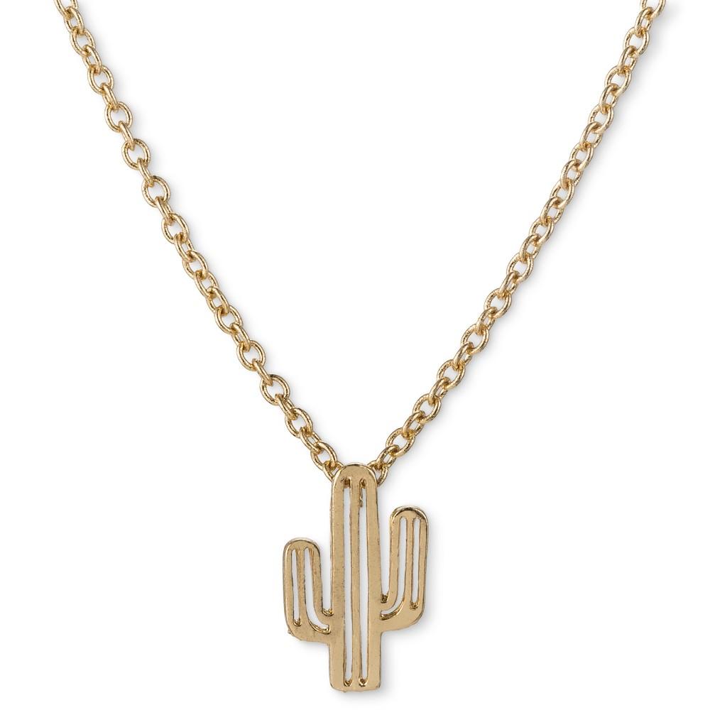Image of Get Gem by Gemelli Cactus Necklace - Gold, Adult Unisex