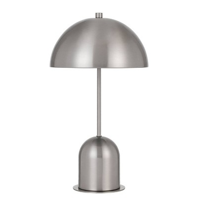 """30"""" Peppa Metal Accent Lamp with Dome Shape Shade Brushed Steel - Cal Lighting"""