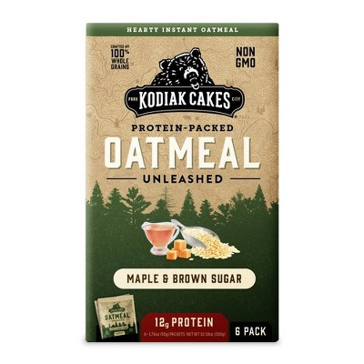 Kodiak Cakes Maple Brown Sugar Oatmeal - 6pk