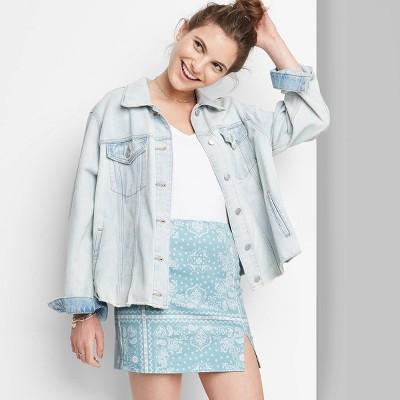 Women's Notch Front A-Line Mini Skirt - Wild Fable™