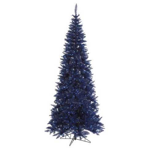 75ft pre lit artificial christmas tree navy blue fir with 500 blue led lights