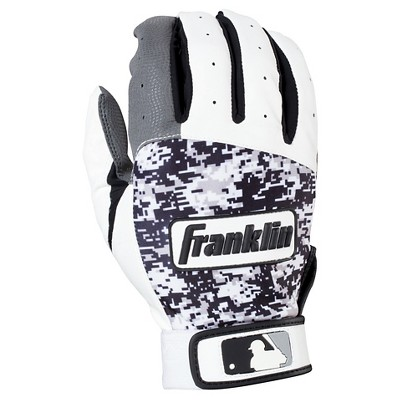 Franklin Sports Digitek Adult Batting Glove - Gray/White/Black Digi (XL)