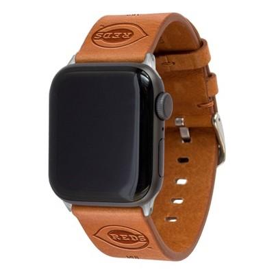 MLB Cincinnati Reds Apple Watch Compatible Leather Band 42/44mm - Tan
