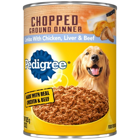 Pedigree Chopped Chicken Beef & Liver Meaty Ground Dinner Wet Dog Food - 22oz : Target