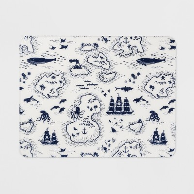 18 x14  Map Placemat White/Blue - Pillowfort™